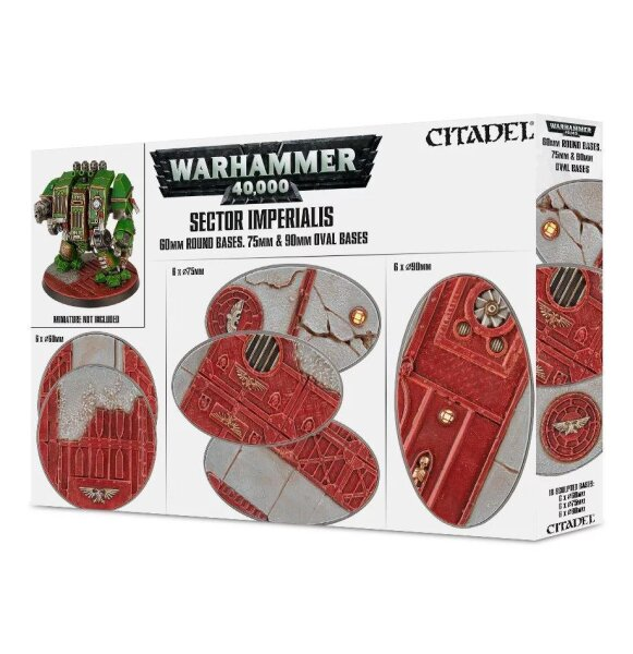 Sector Imperialis: 60mm Round + 75/90mm Oval Bases