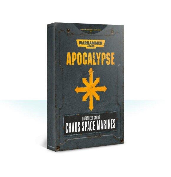 Apocalypse Datasheet Cards: Chaos Space Marines (Englisch)