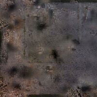 Playmats.eu - Ruined City rubber Play Mat - 36x36 inches