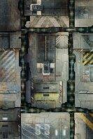 Playmats.eu - Space Station Deck rubber Play Mat - 72x48...