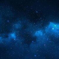 Playmats.eu - Blue Nebula One-sided rubber Play Mat -...