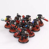 Deathwatch - 10-Man Kill Team - gut bemalt