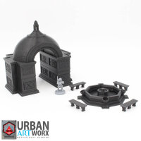 Marin City Aristocrats Domed Arch and Fountain Set