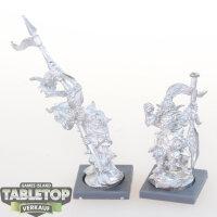 Kings of War - Goblin Champion und Standartenträger...