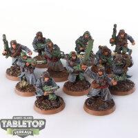 Astra Militarum - 11 klassische Valhallaner - gut bemalt