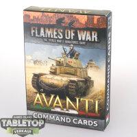 Flames of War - Avanti Command Cards - Englisch