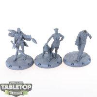 Dust Tactics - 3 Heroes - grundiert