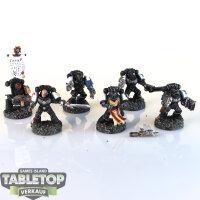 Space Marines - 6 Black Templars - gut bemalt