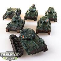 6 Sowjetische Panzer - bemalt