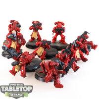 Blood Angels - 10 taktische Space Marines - teilweise bemalt