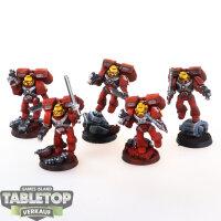 Blood Angels - 5 Assualt Squad - gut bemalt