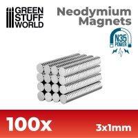 Neodymium Magnets 3x1mm - 100 units (N35)