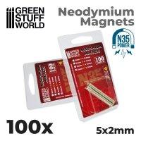 Neodymium Magnets 5x2mm - 100 units (N35)