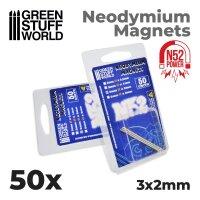 Neodymium Magnets 3x2mm - 50 units  (N52)
