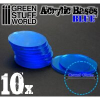 Acrylic Bases - Round 40 mm CLEAR BLUE