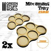 MDF Movement Trays 25mm x5 - Skirmish