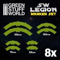Legion arc-shaped line of fire markers - GREEN FLUOR