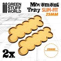 MDF Movement Trays 25mm x 10 - SLIM-FIT