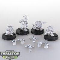 Macrocosm - 4 Crusader Dwarfs Pack 6 - unbemalt