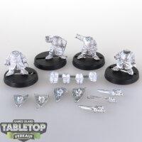 Macrocosm - 4 Crusader Dwarfs Pack 2 - unbemalt