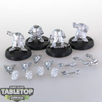 Macrocosm - 4 Crusader Dwarfs Pack 3 - unbemalt