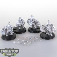 Macrocosm - 4 Spartaner Dwarfs - unbemalt