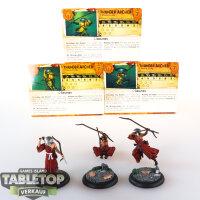 Malifaux - 3 Ten Thunder Archers - gut bemalt