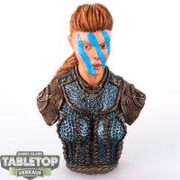 Shieldwolf Miniatures - Shieldmaiden Bust - gut bemalt