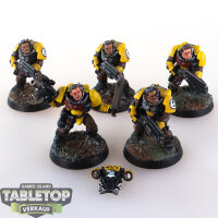 Space Marines - Imperial Fists 5 Scouts - gut bemalt