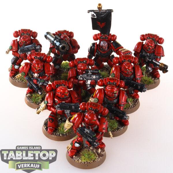 Blood Angels - Tactical Squad (10 Modelle) - gut bemalt