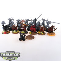Herr der Ringe - 18 Krieger der Haradrim - teilweise bemalt