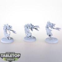 Daemons of Tzeentch - 3 Flamers of Tzeentch - grundiert