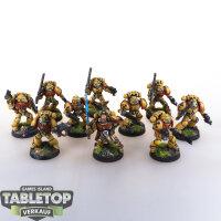 Imperial Fists - 10 Tactical Marines - gut bemalt