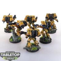 Imperial Fists - 6 Assault Marines - gut bemalt