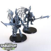 Ossiarch Bonereapers - 2 Morghast Archai - unbemalt